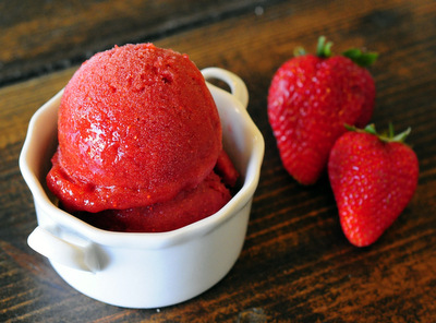 Strawberry Basil Sorbet - Baking Bites