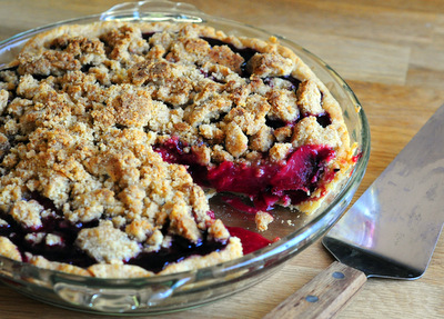 Plum and Blackberry Pie