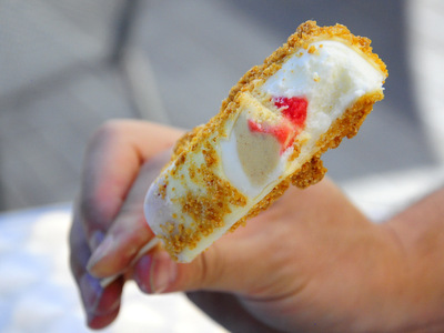 Strawberry Cheesecake Ice Cream Bar