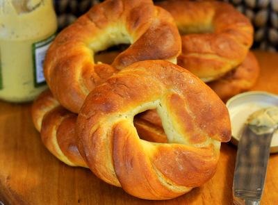 Pretzel Bagels - Baking Bites