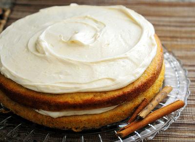 Fresh Cinnamon Cake, uncut