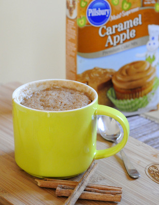 Salted Caramel Apple Mug Cake