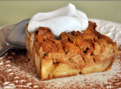 Pumpkin Bread Pudding Recipe — Dishmaps