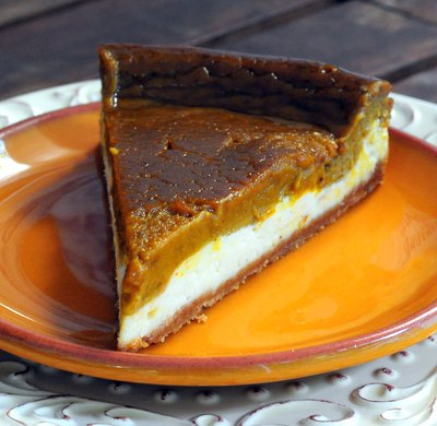 Two Layer Pumpkin Pie Cheesecake