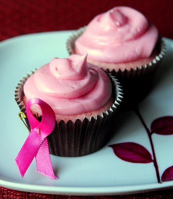 Pink Breast Cancer Awareness Cupcakes