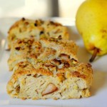 Pear and Pistachio Scones