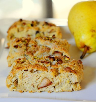 Pear and Pistachio Scones - Baking Bites