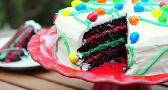 Holiday Chocolate Peppermint Layer Cake