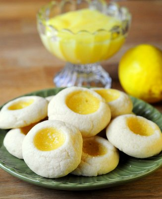 Meyer Lemon Thumbprint Cookies