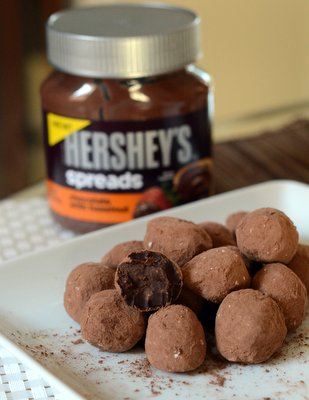 Dark Chocolate Hazelnut Truffles