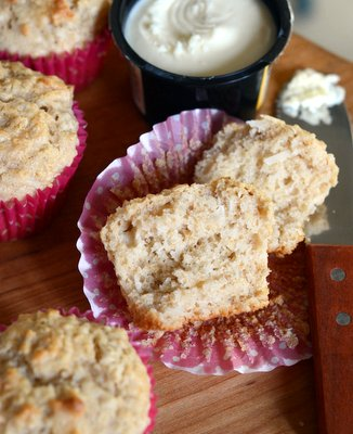 Coconut Oatmeal Muffins, interior