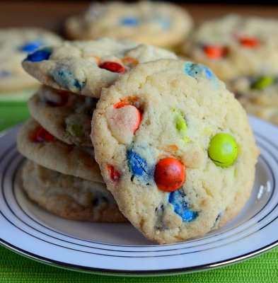 Baking Bites' M&M Cookies
