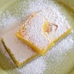 Lime Bars with Confectioners' Sugar
