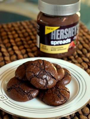 Hershey's Spread with Almond Flourless Chocolate Almond Cookies