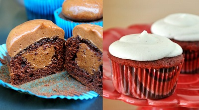 Chocolate Cupcakes and Red Velvet Cupcakes