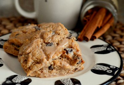 Cinnamon Chocolate Chip Scones
