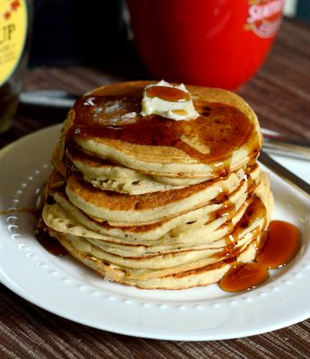 gluten free buttermilk pancakes are made with a gluten free