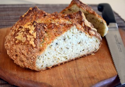 Irish Cheddar and Herb Soda Bread