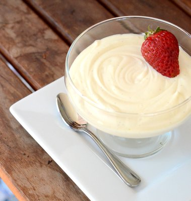 White Chocolate Vanilla Bean Mousse