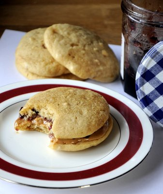 Peanut Butter & Jelly Whoopie Pies