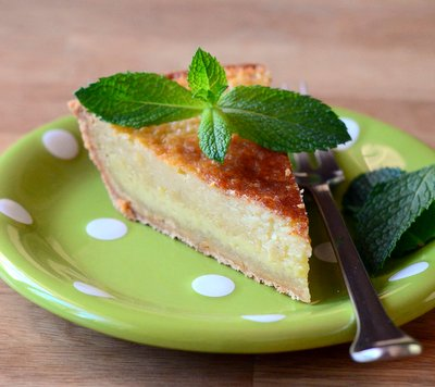 Mint Julep Buttermilk Pie