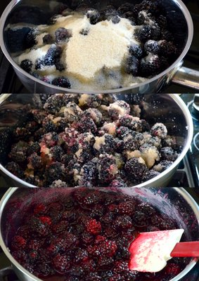 Making Blackberry Jam