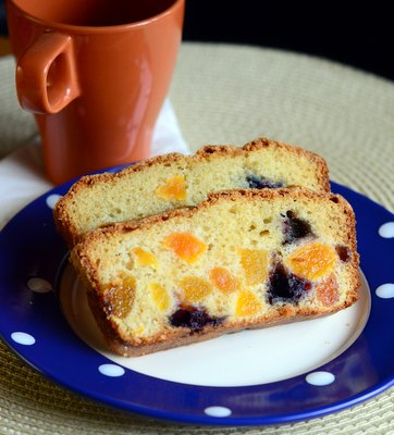 Brown Butter Blueberry Apricot Loaf