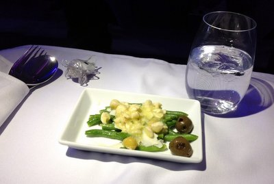Asparagus Salad on Virgin America