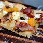 Proscuitto, Goat Cheese and Caramelized Onion Pizza