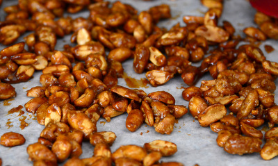 Candied Peanuts, cooling