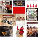 Red Kitchen Inspiration Board