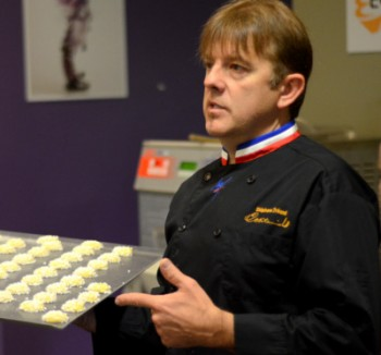 MOF Stephan Treand during a Baking Demonstration