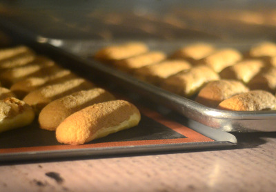 Eclairs in the Oven at The Pastry School