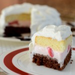 Ice Cream Cake with Whipped Cream Frosting
