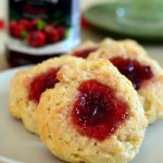 Buttermilk Cherry Thumbprint Scones