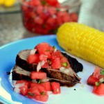 Spice-Rubbed Grilled Tri Tip with Watermelon Salsa