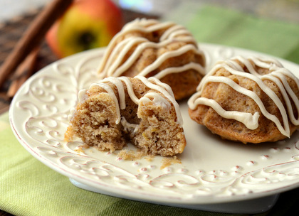 Salted Caramel Apple Mini  Bundt Cakes