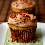 Pumpkin Cupcakes with Maple Cinnamon Frosting