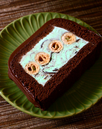 Mint Chocolate Chip Cookie Ice Cream Terrine