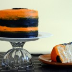 Craftsy Black and Orange Cake