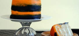 Black and Orange Cake Tutorial on Craftsy