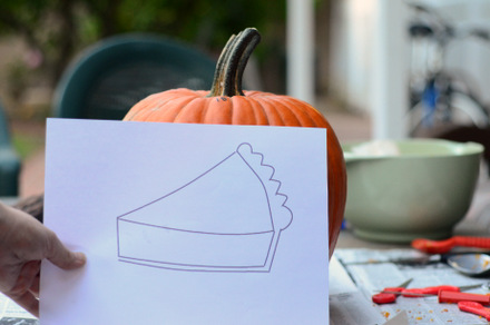 Pumpkin Pie Pumpkin Template