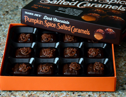 Trader Joe's Dark Chocolate Pumpkin Spice Salted Caramels, reviewed