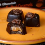 Trader Joe's Pumpkin Spice Dark Chocolate Caramels, interior