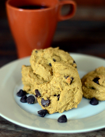 Low Fat Chewy Pumpkin Chocolate Chip Cookies - Baking Bites