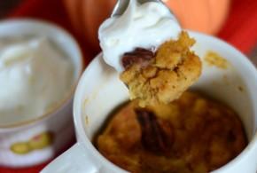 5 Minute Pumpkin Bread Pudding in a Mug