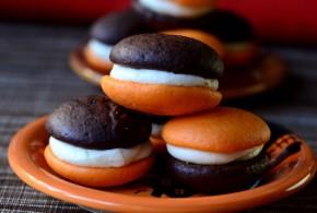 Black and Orange Halloween Whoopie Pies