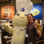 Nicole and the Doughboy at the 47th Annual Pillsbury Bake Off