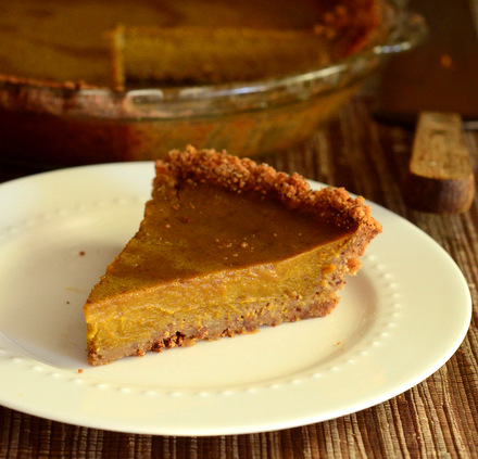 Gluten Free Pumpkin Pie with Gluten Free Pie Crust