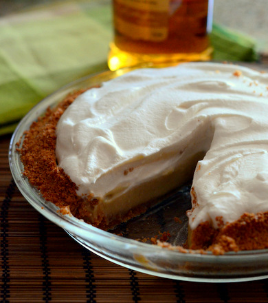 Bourbon Butterscotch Cream Pie